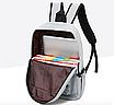 Рюкзак городской молодежный с пеналом Серый, фото 7
