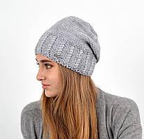 Женская шапка veilo на флисе 3417 серый