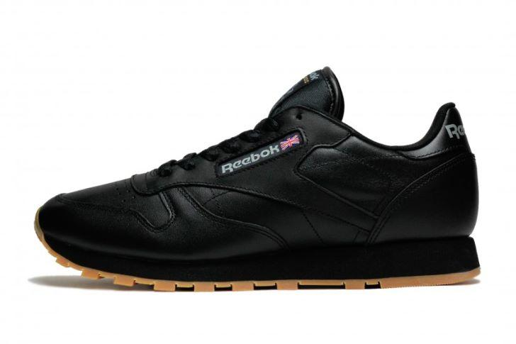 Кроссовки Reebok Classic Leather Black Brown Черные мужские