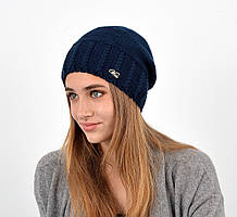 Женская шапка veilo на флисе 3417 синий