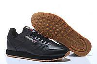 Кроссовки Reebok Classic Leather Black Camo Черные мужские