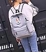 Рюкзак городской молодежный с пеналом Серый, фото 8