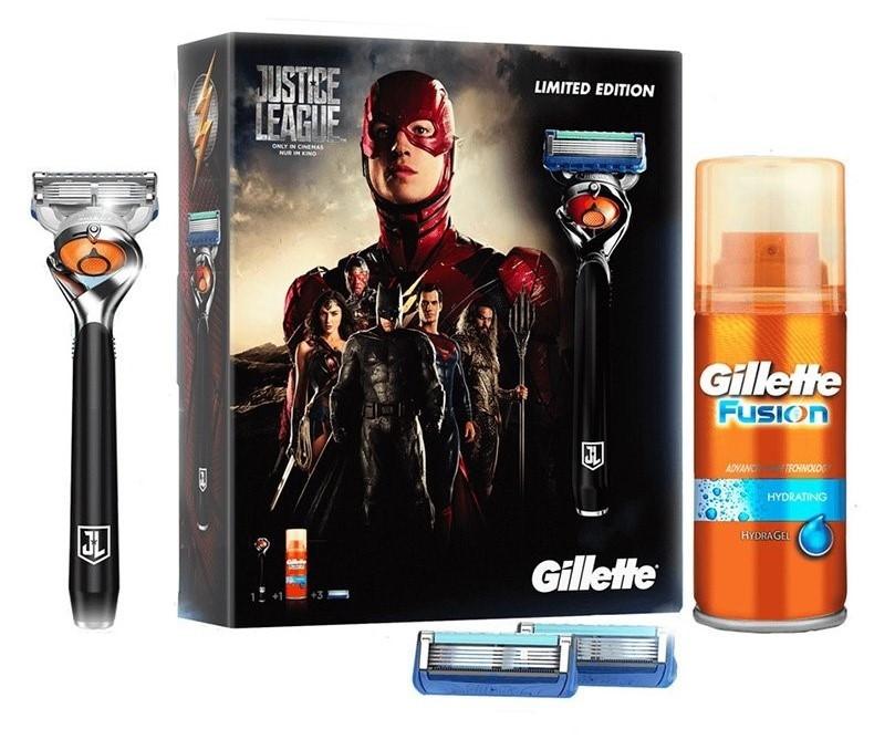 Подарочный набор Gillette Fusion Proglide Flexball (станок + 3 кассеты + гель 75 мл) 01174