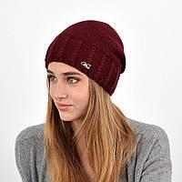 Женская шапка veilo на флисе 3417 бордо
