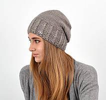 Женская шапка veilo на флисе 3417 капучино