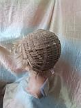 Короткий парик из термоволокна блонд омбре Е-9318-27ТТ613/С, фото 10