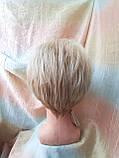 Короткий парик из термоволокна блонд омбре Е-9318-27ТТ613/С, фото 5