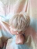 Короткий парик из термоволокна блонд омбре Е-9318-27ТТ613/С, фото 6