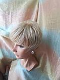 Короткий парик из термоволокна блонд омбре Е-9318-27ТТ613/С, фото 9