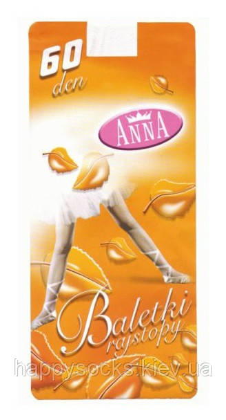 """Капроновые колготки детские """"Anna"""" Baletki""""для танцев 60 den"""
