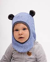 Теплая шапка-шлем Рамси микс