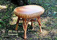 Стол овальный из лозы, фото 1