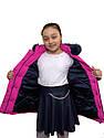 """Модная зимняя розовая куртка на девочку """"Звезда"""", фото 2"""