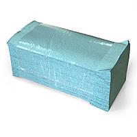 Полотенце бумажное зеленое 1 слой VV сложение 200 шт/уп Украинах
