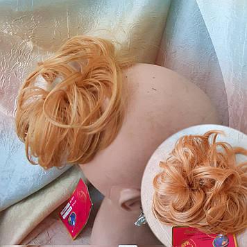 Резинка шиньон из волос ярко-медный 0215А- 1002F Global