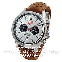 Часы мужские наручные Tag Heuer calibre 17 chronometer Silver white
