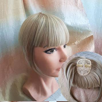 Челка накладная на защелках (клипсах) пепельный блонд 10-028- Н16Т613