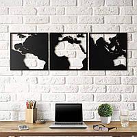 Картина из дерева Map of contrast 50х150 см MO1001