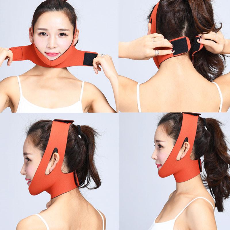 """""""Gl Slim"""" - маска - бандаж для корекції овалу обличчя (друге підборіддя, щоки,шия) бежева"""