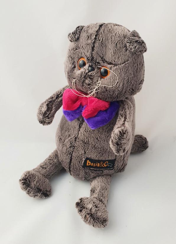 Мягкая игрушка Кот Басик (внутри камешки) 35 см