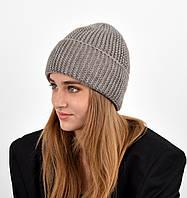 Женская шапка veilo на флисе 3409 капучино, фото 1