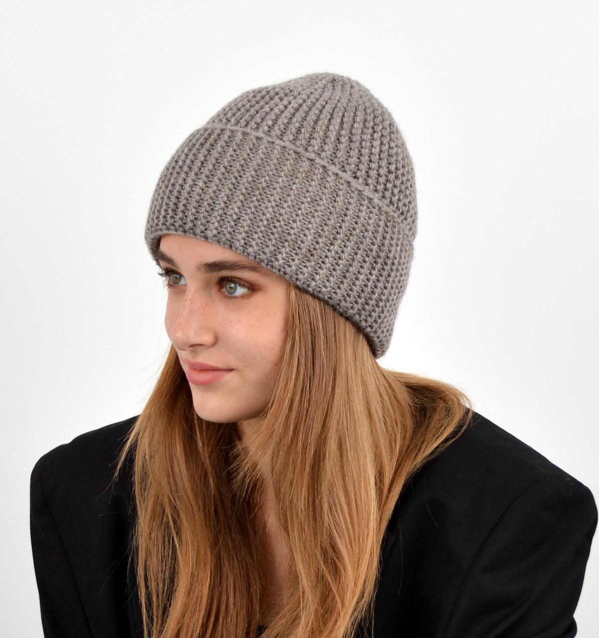 Женская шапка veilo на флисе 3409 капучино
