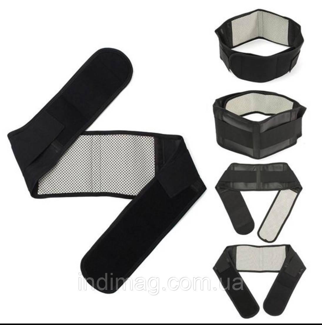 Набор турмалиновых изделий: воротник, наколенники, пояс.