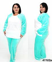 Махрова жіноча піжама БАТАЛ, 56(3XL)
