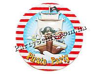 Тарелки Пираты картонные 18 см, 10 шт