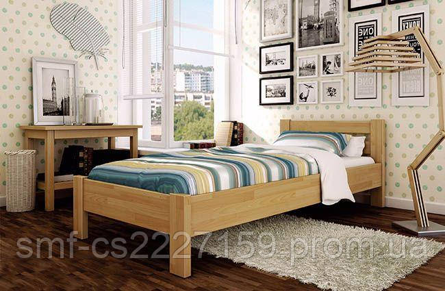 Дерев'яне ліжко Рената 90*190/200