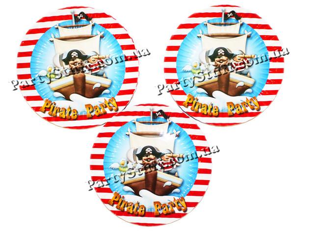 Тарелки Пираты картонные 16 см