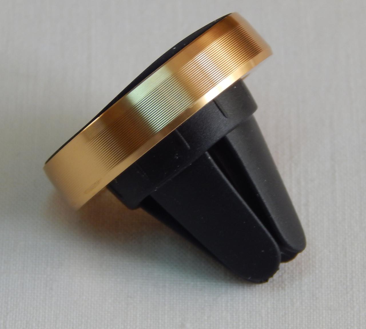 Тримач телефону магнітний ZIRY з прищіпкою без шарніру, золото