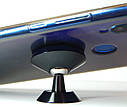 Тримач телефону магнітний ZIRY з клейкою основою, срібло, фото 4