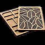 Органайзер для бисера с деревянной крышкой FLZB-049, фото 2
