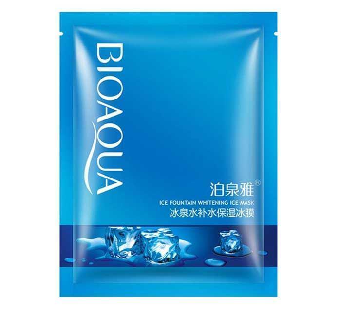 Отбеливающая маска с освежающим эффектом BIOAQUA Ice Fountain Whitening Ice Mask