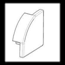 Заглушка BIOM для углового профиля ЛПУ17-П 17х17мм прозрачная