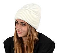 Женская шапка veilo на флисе 3409 молоко, фото 1