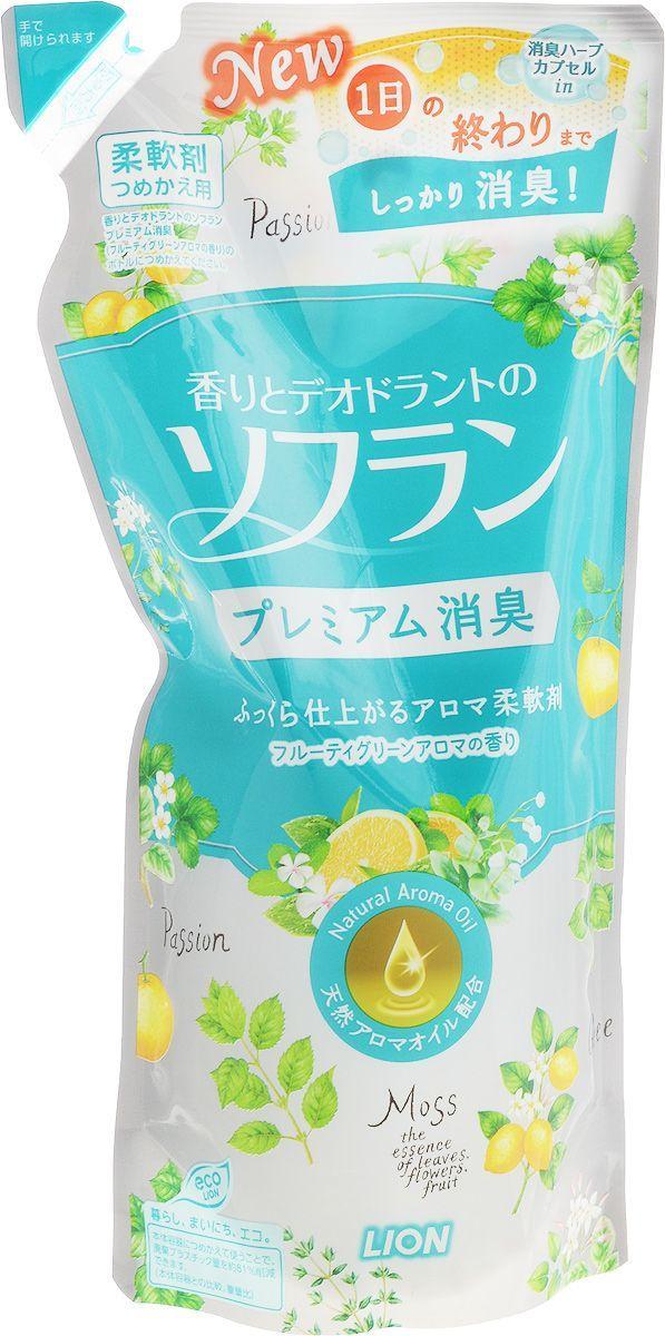 Кондиционер для белья LION Soflan Premium с цитрусовым ароматом 450 мл (283157)
