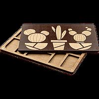 Органайзер для бисера с деревянной крышкой FLZB-063