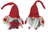 Мягкая игрушка Гном, 28см, 2 вида, цвет - красный с серым