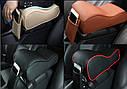 Підлокітник для салону автомобіля ZIRY штучна шкіра, чорний з червоним, фото 5