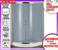 Угловая душевая кабина 115х85 см с поддоном 15 см Santeh 1115R F двери раздвижные правосторонняя, фото 1