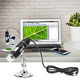 Электронный микроскоп USB 1600 крат на подставке, фото 2