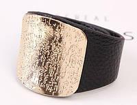 Браслет ремешок с декор пряжкой золото, фото 1