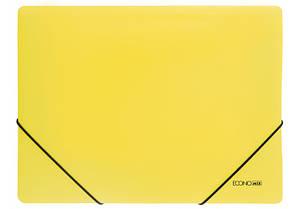 """Папка пластиковая A4 на резинках Economix,фактура """"апельсин"""" желтая E31633-05"""