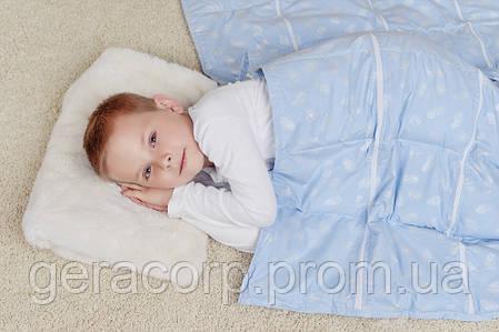 Утяжеленное сенсорное одеяло HugME с гималайской солью 140х180,на молнии (6-13 лет с солью), фото 2