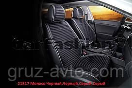 Накидки на сидения CarFashion   Мoдель: MONACO  черный, черный- серый, серый  (21817)