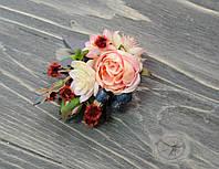 Заколка в волосы с бутонами роз премиум, фото 1