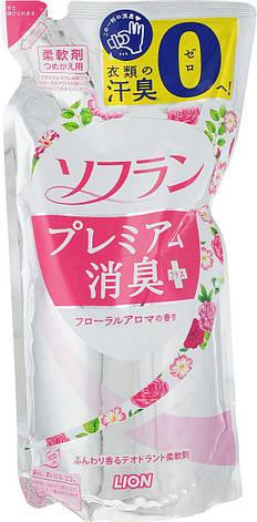 Кондиционер для белья LION Soflan Premium с цветочным ароматом 450 мл (282976), фото 2