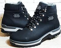 Зимние мужские ботинки  из натуральной кожи на меху в стиле Columbia 40 41 42 43 44 45